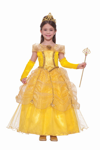 Girl's Halloween Costumes Gold Princess Costume