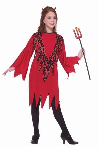 Girls Little Devil Costume