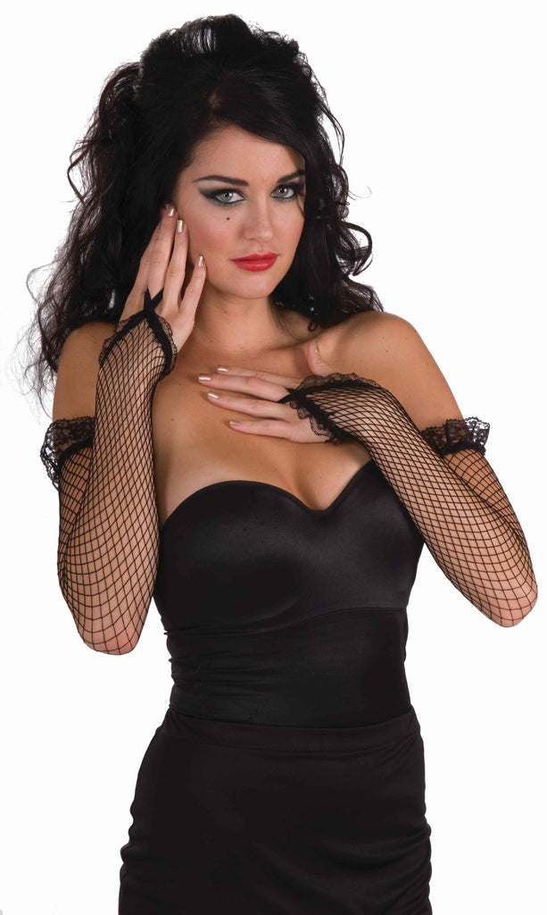 Punk Rock Lady Fishnet and Lace Gloves