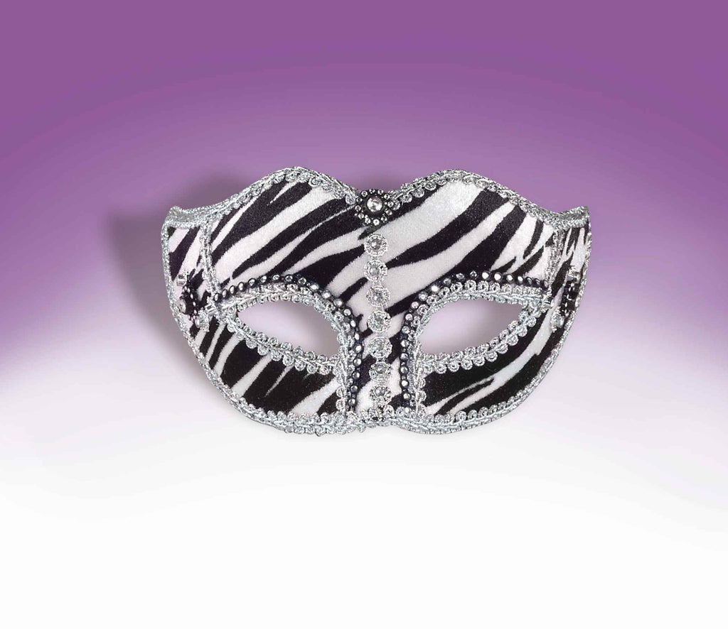 Mardi Gras Ladies Zebra Eye Mask