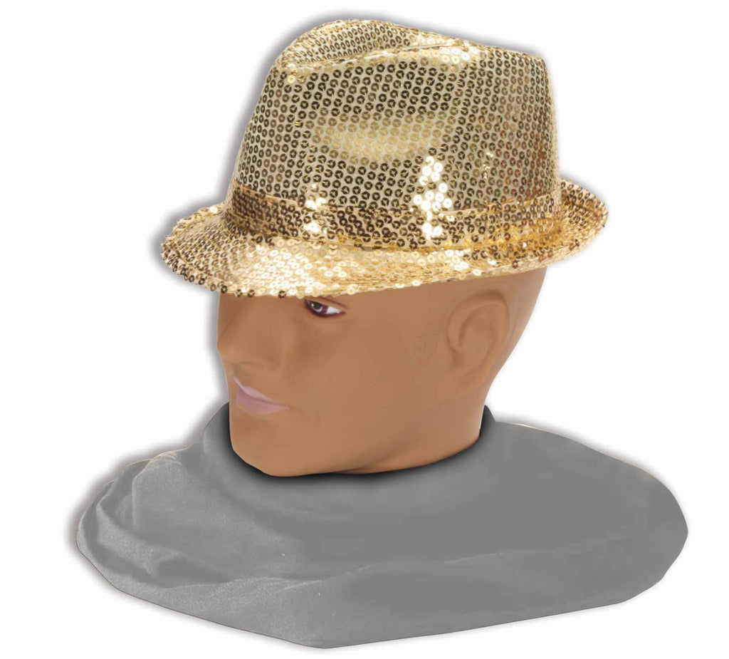 Sequin Halloween Hat Gold Sequin Fedora