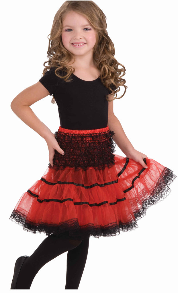Kid's Crinoline Slip Red/Black