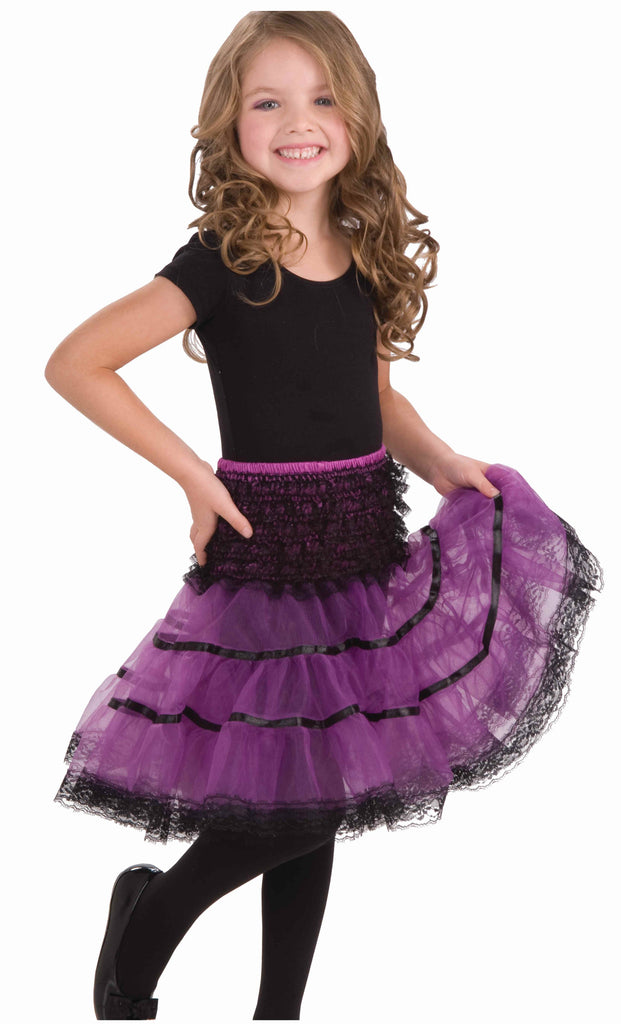 Purple/Black Children's Crinolines