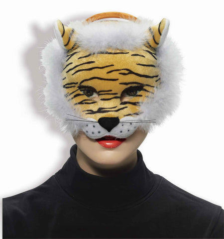 Deluxe Tiger Mardi Gras Face Mask