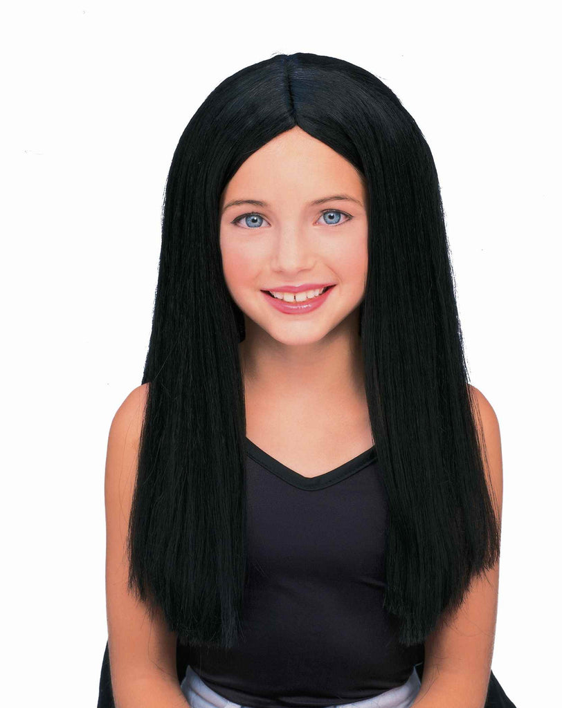 Kid's Witch Wig Long Black Halloween Wig