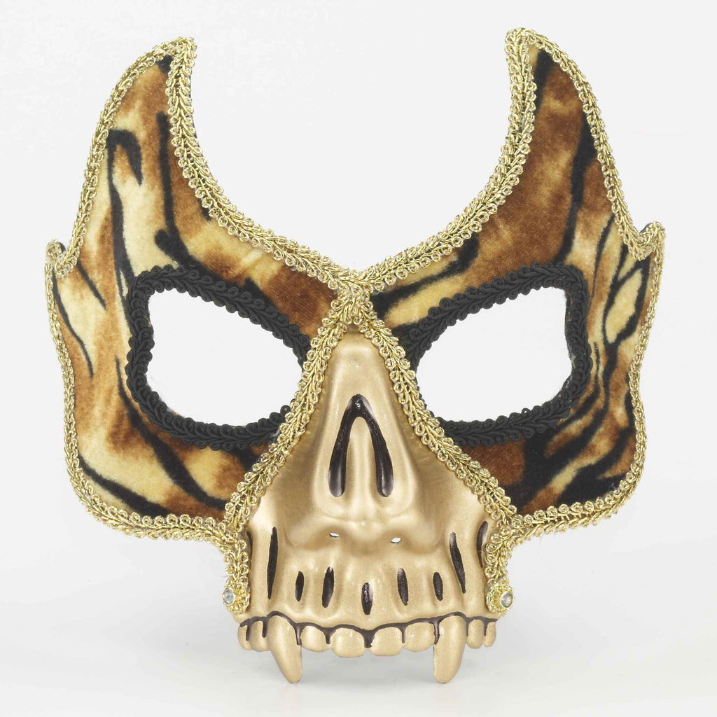Gold Demon Venetian Face Mask