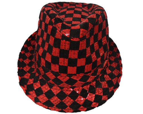 Checkerboard Fedora Hat - Various Colors