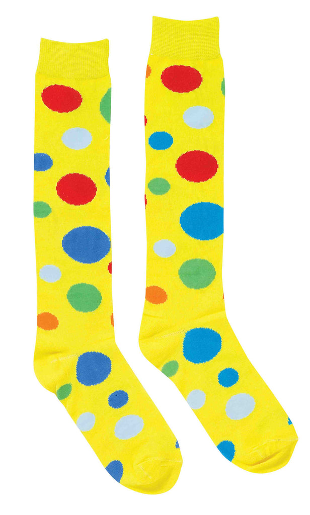 Polka Dot Clown Costume Socks