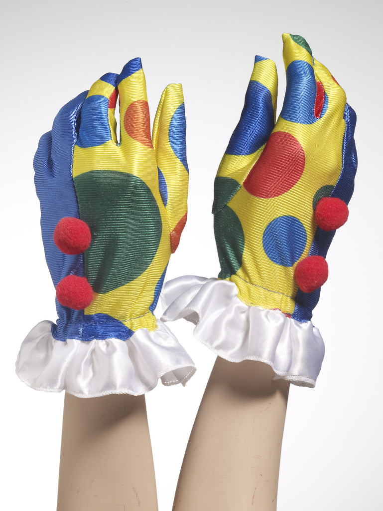 Fancy Clown Costume Gloves