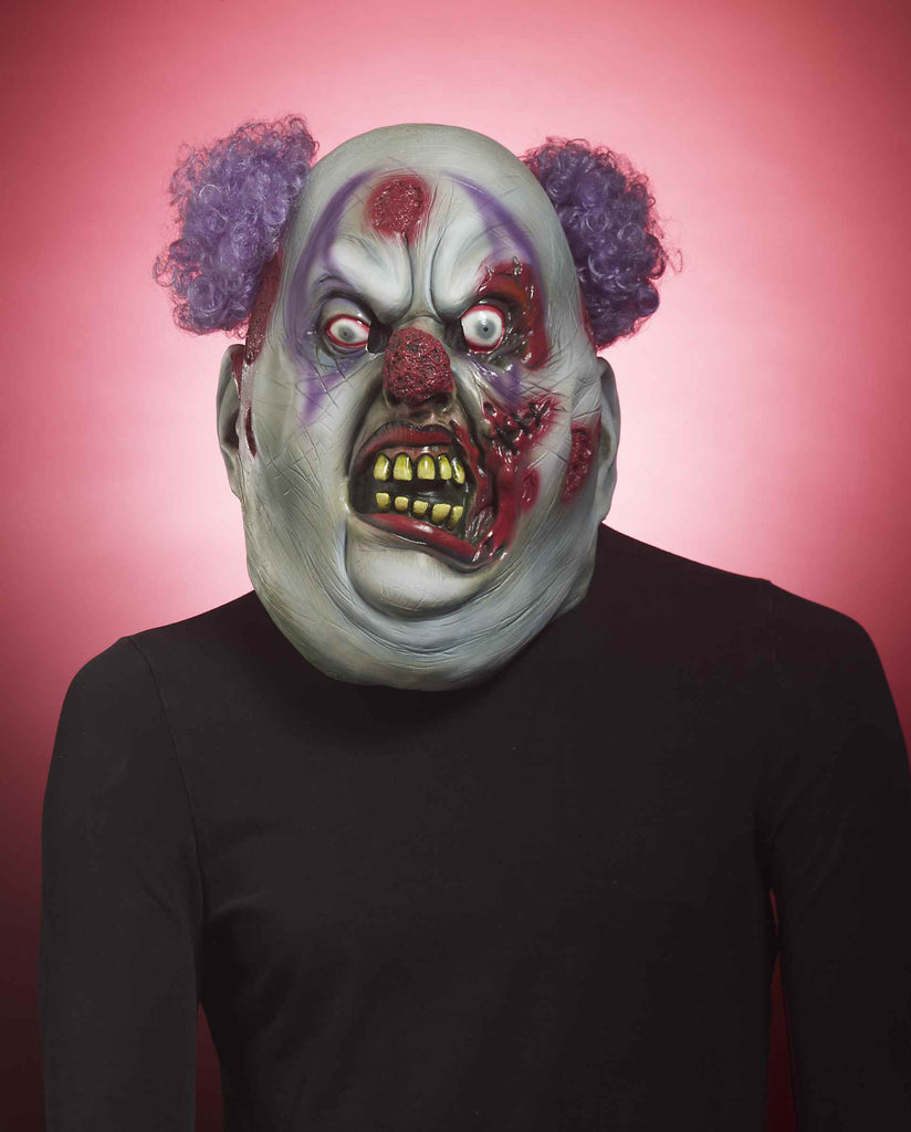 Evil Zombie Clown Halloween Costume Mask