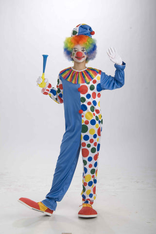 Teens Costumes Colorful Clown Costume (Unisex)
