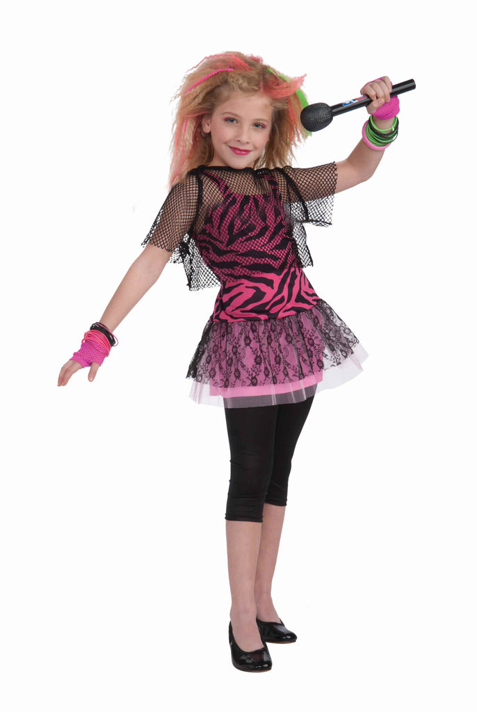 Girls 80's Rocker Star Costume