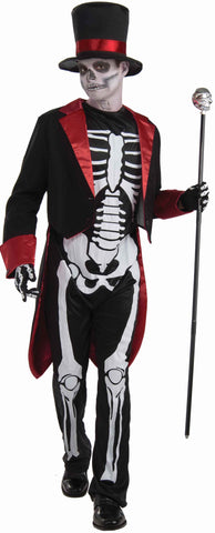 Teens Dapper Mr. Bones Skeleton Costume