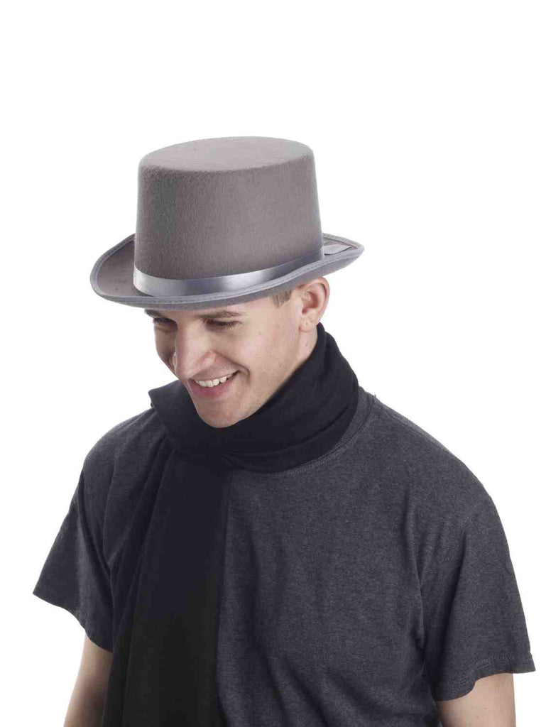 Costume Top Hat Deluxe Grey Hat