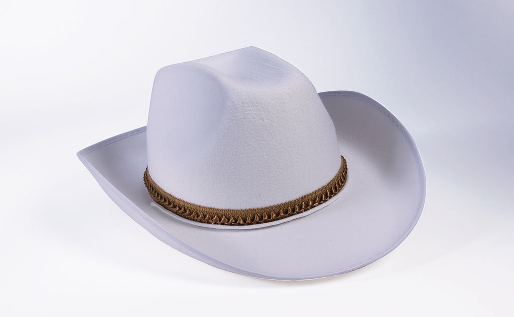 Western Style Cowboy Hat White Adult Hat