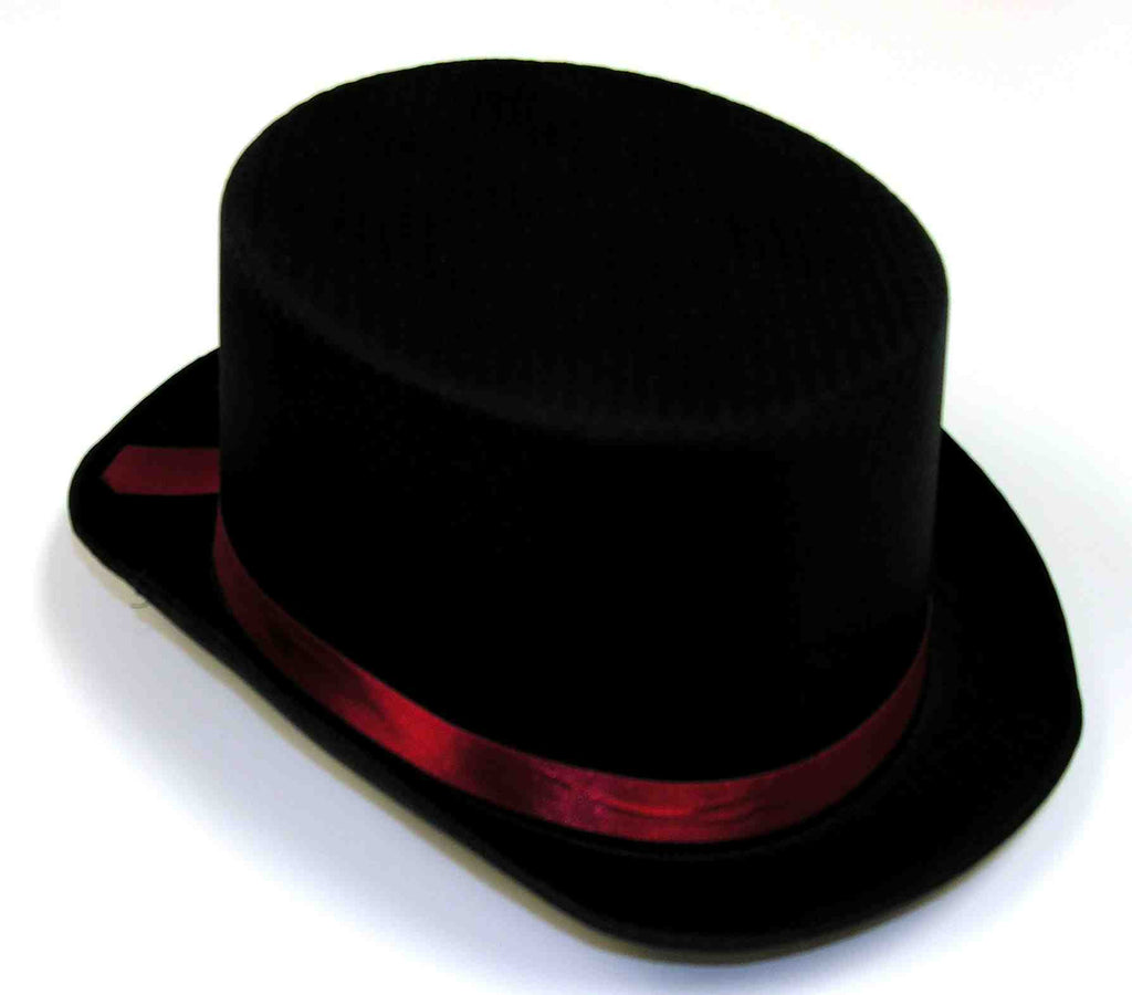 Top Hats Black Satin Top Hat