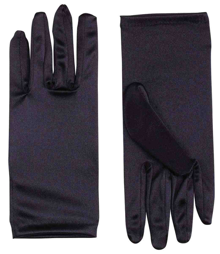 Satin Costume Gloves Black