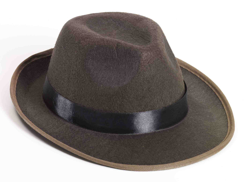 Fancy Fedora Hat Brown Felt Fedora
