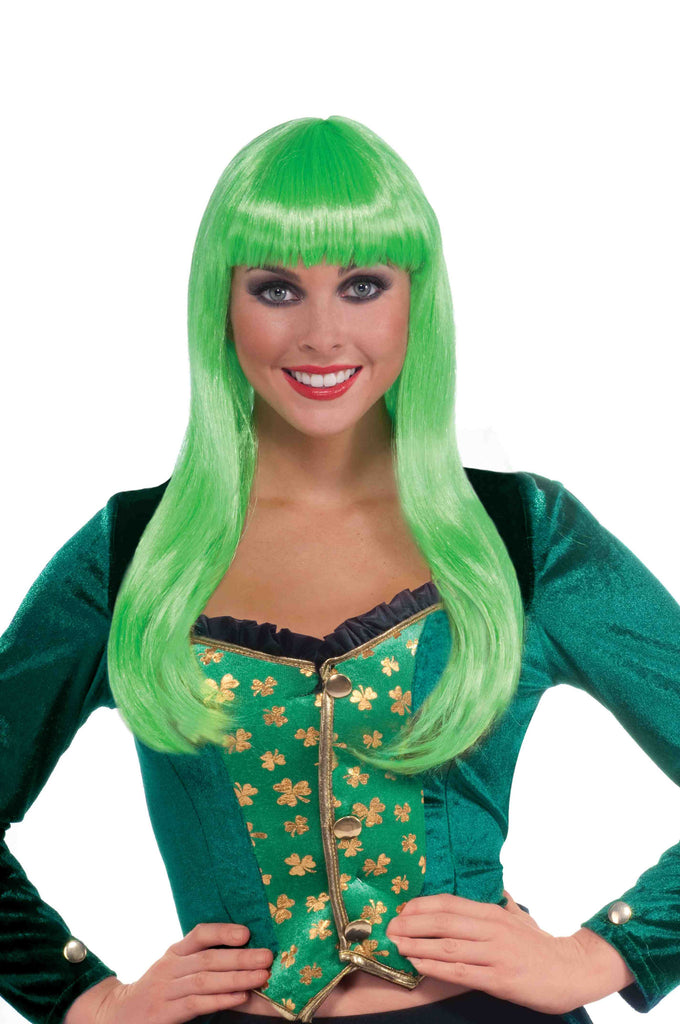 Pretty Irish Lass Green Costume Wig