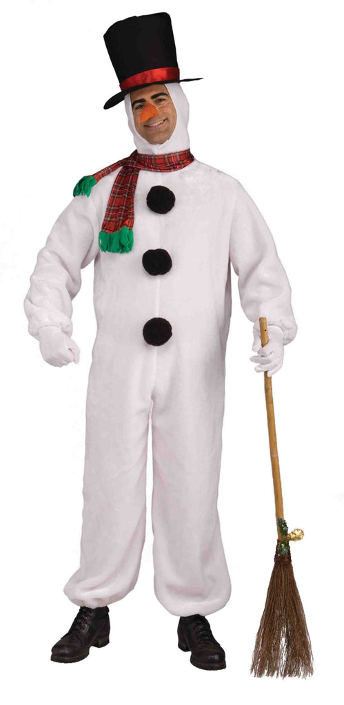 Deluxe Christmas Snowman Costume for Adults