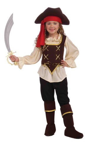 Deluxe Pirate Costumes Girl's Buccaneer Costume