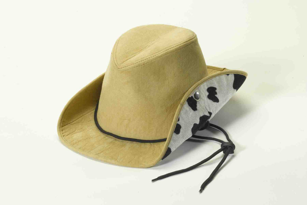 Cowboy Suede and Cow Print Hat