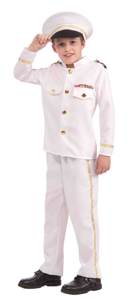 Navy Admiral Military Costume for Kids