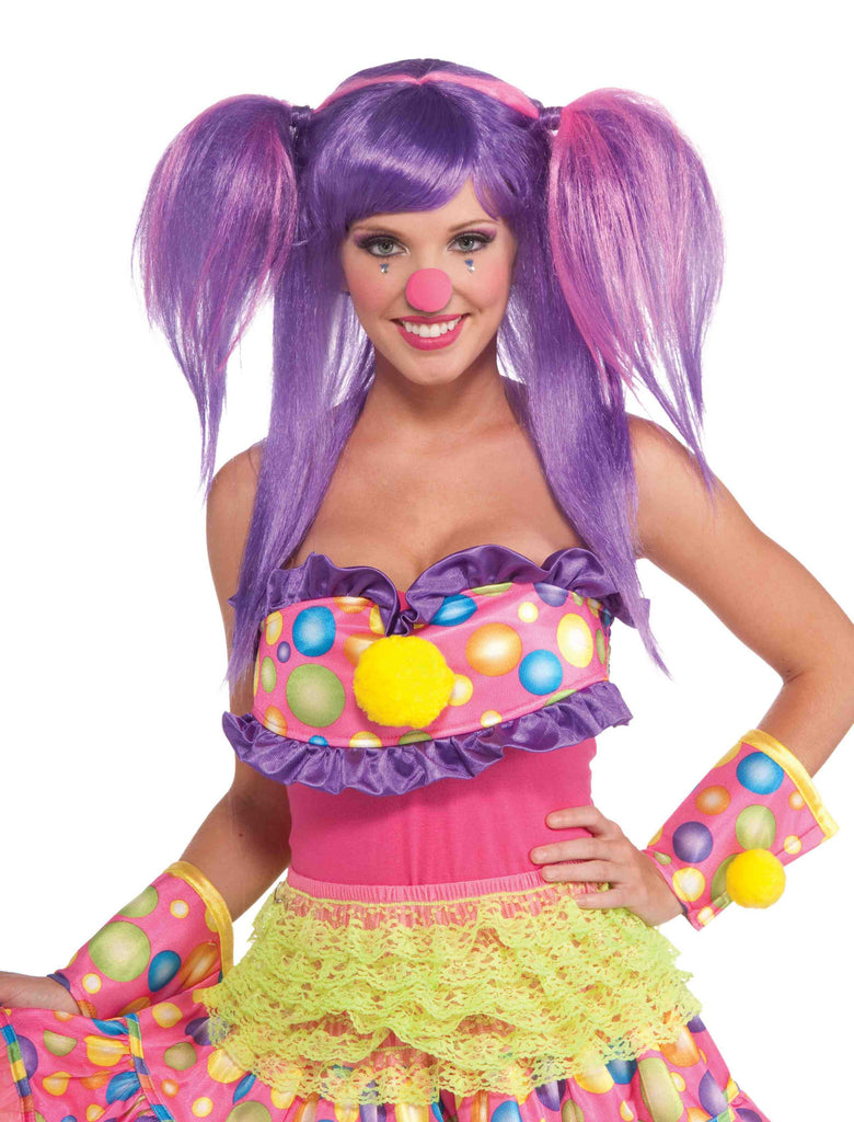 Clown Wig Purple Clown Woman Cutie