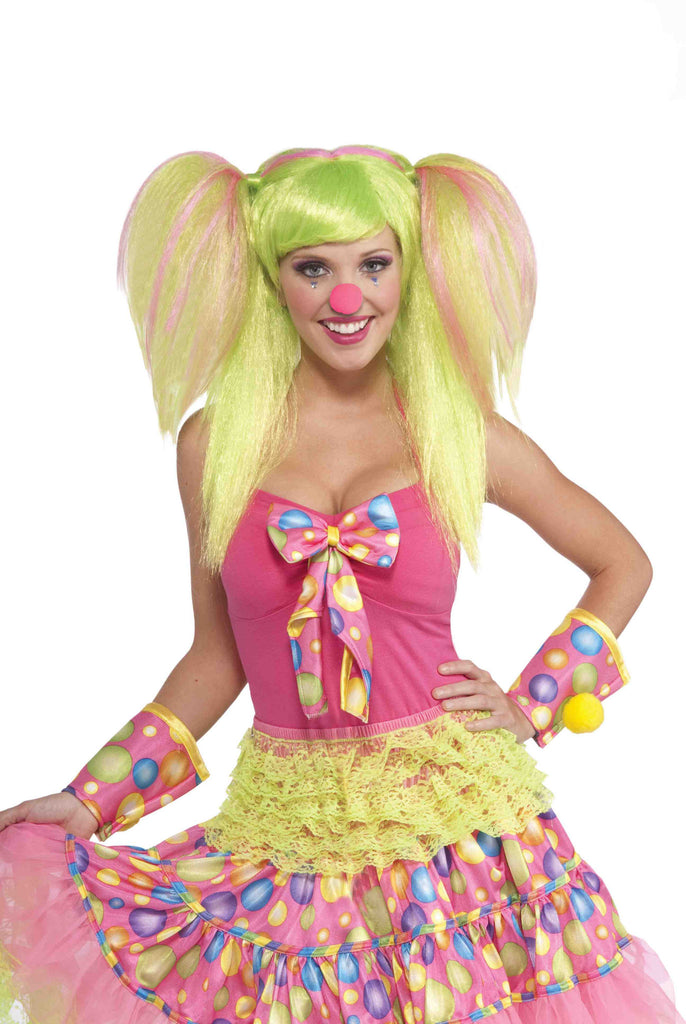 Clown Wig Green Lollipop Costume Wig