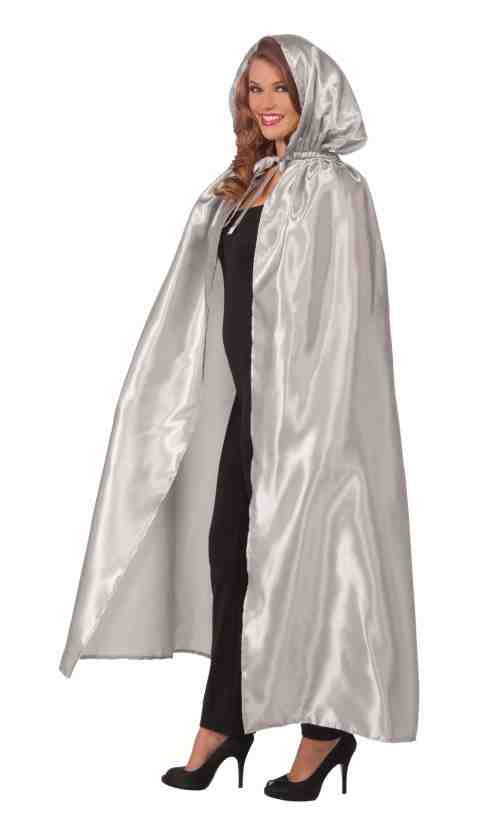 Silver Halloween Cape Hooded Cape