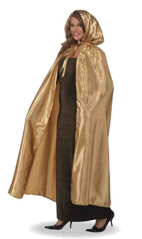 Metallic Cape Masquerade Cape Gold