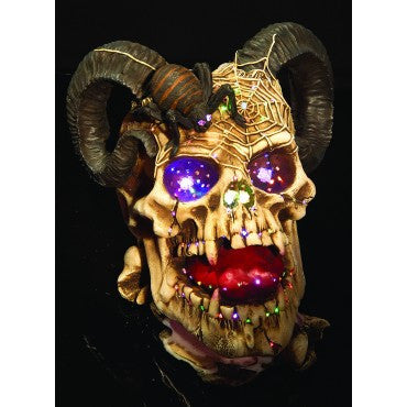 Fiber Optic Ram Skull Decoration