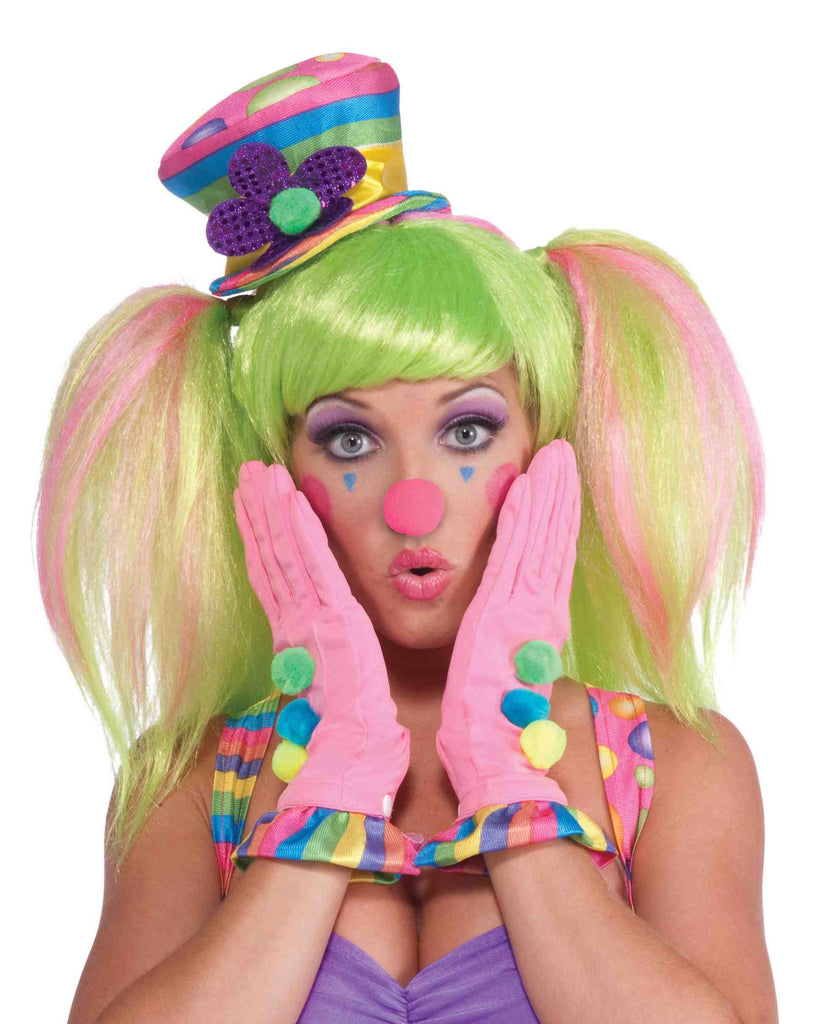 Female Clown Pink Gloves