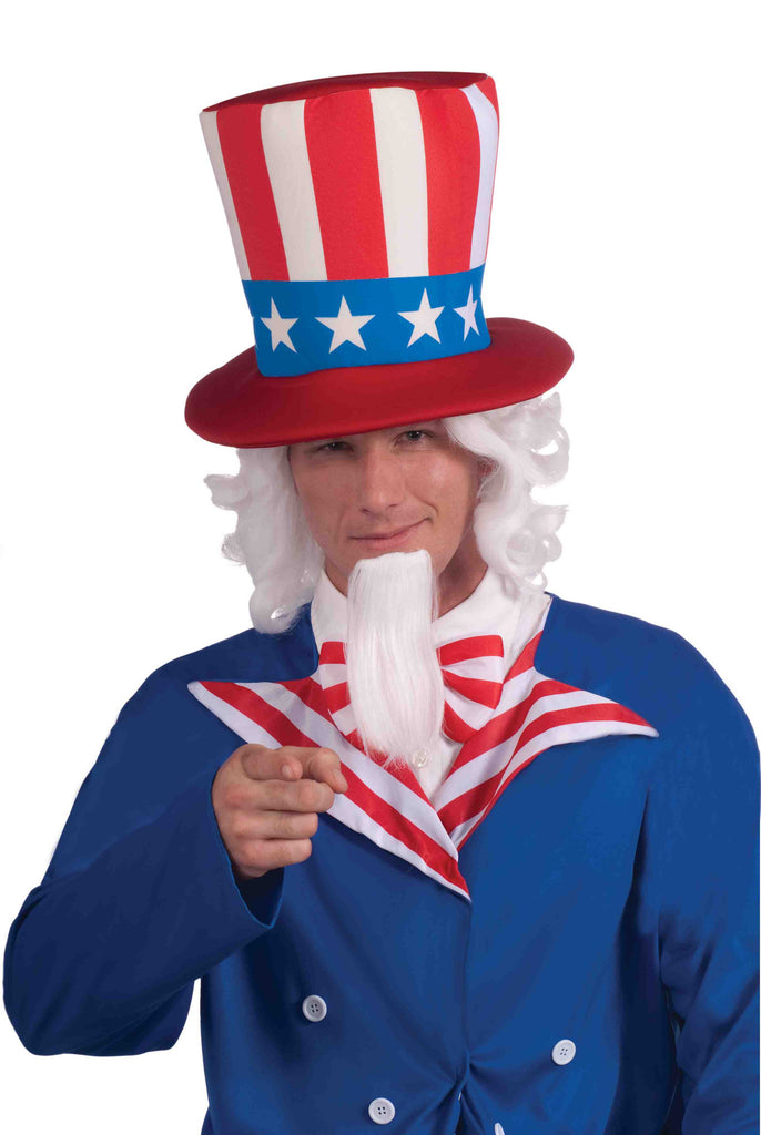 Uncle Sam Wig and Beard Deluxe Set