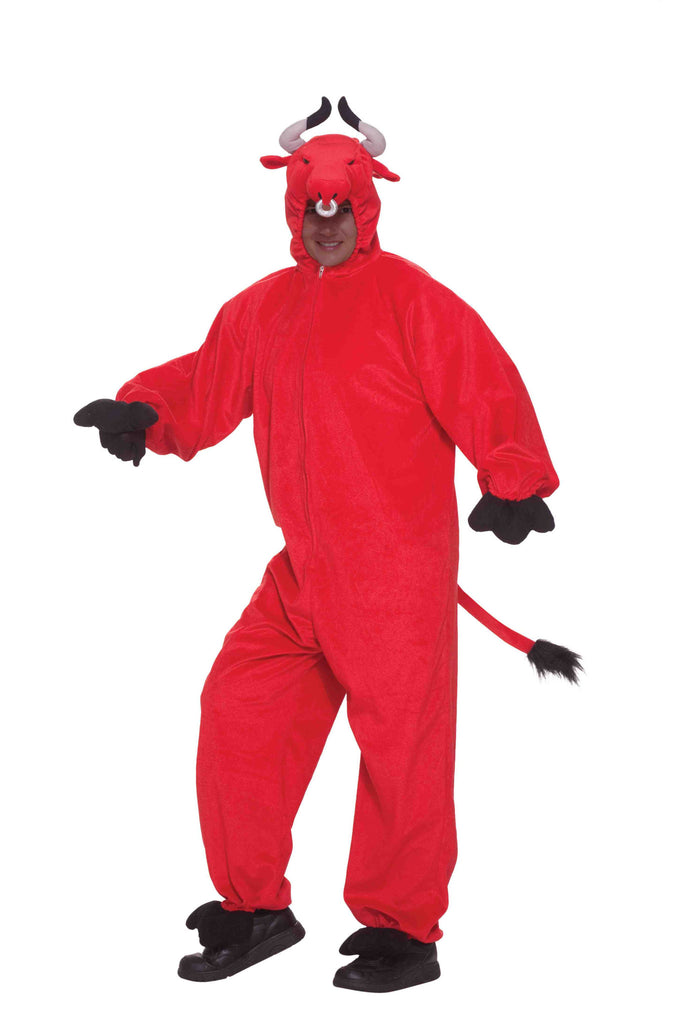 Red Bull Costume Adult Plush Deluxe