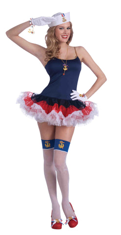 Costume-Lady In The Navy Slip Dress