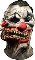 Scary Two Headed Siamese Clown Mask