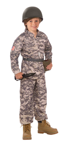 Boys Desert Camo Army Soldier Costume