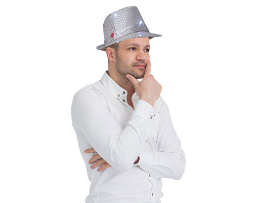 LED Lighted Fedora Hat - Various Colors