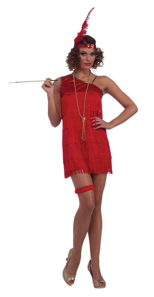 Red Flapper Halloween Costume for Women Dazzle Flapper