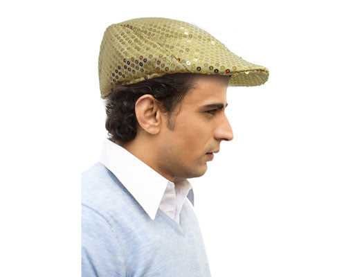 Sequined Flat Newsboy Cap - Various Colors