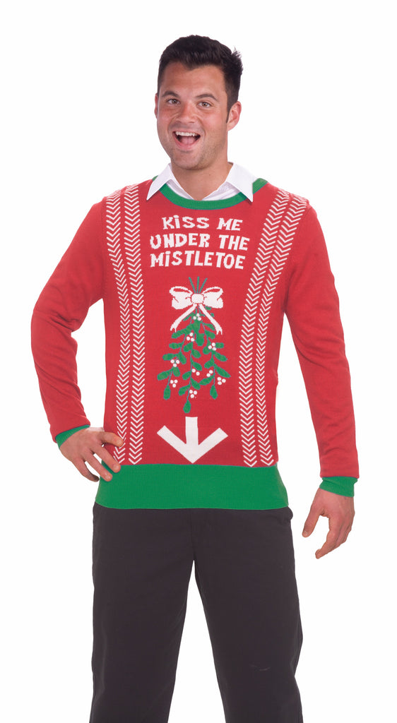 Christmas Sweater - Kiss  Me Under The Mistletoe