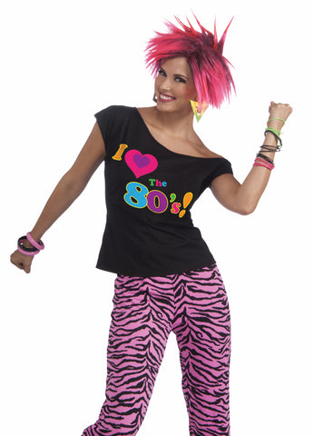 I Love the 80's Halloween Shirt Womens