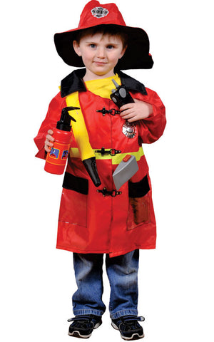 Kids Fire Fighter Dress Up Set