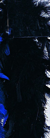 Black Turkey Feather Boa