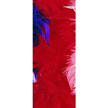 Red Turkey Feather Boa