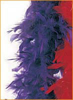 Purple Turkey Feather Boa