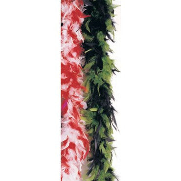 Black & Green Turkey Feather Boa