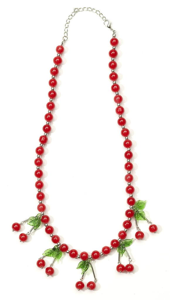 Retro Rock Cherry Necklace