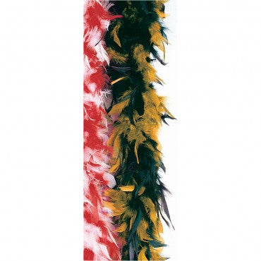 Black & Orange Turkey Feather Boa